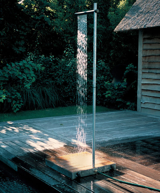"Nothing says ""I've left the city"" quite like an outdoor shower"