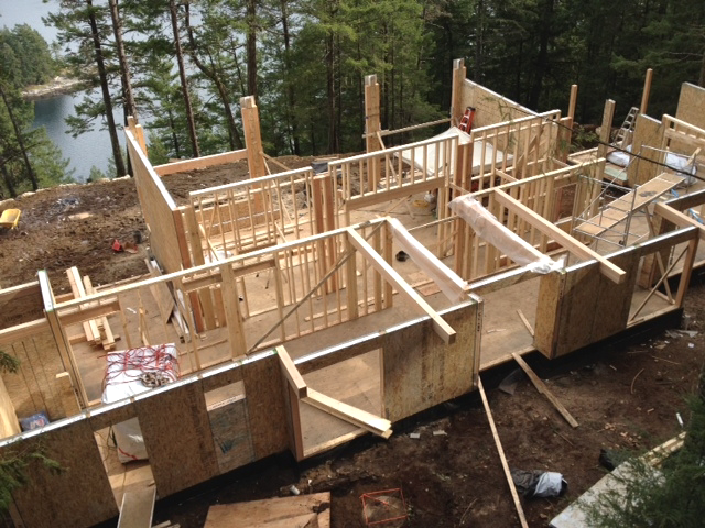 Howe Sound Gambier Island Cabin Construction
