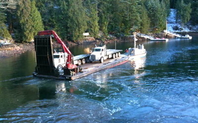 Howe Sound Gambier Island Barge Transportation